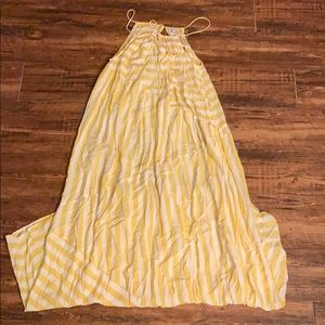 Gillia Hawaii Yellow Stripped Maxi Dress
